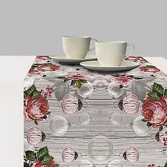 Ambiente Table Runner, Roses And Baubles