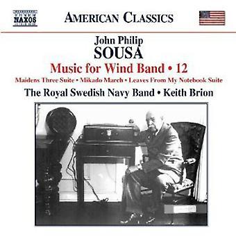 J.P. Sousa - Sousa: Music for Wind Band, Vol. 12 [CD] USA import