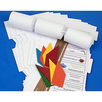 8 White Basic Make & Fill Your Own Recyclable Christmas Cracker Kit