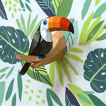 3d Paper Model Papercraft Home Decor Fugle Animal Wall Dekoration-puslespil Educational Kids Legetøj