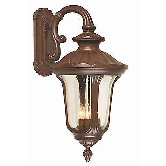 Elstead Chicago - 4 luz al aire libre linterna de pared grande luz Rusty bronce Patina IP44, E14