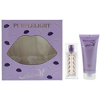 Salvador Dali Purple Light Eau de Toilette 30ml & Body Lotion 100ml Gift Set NEW