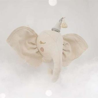 3d Stuffed Animal Heads - Elephant And Swan Head Wall Bedroom Hanging Decor