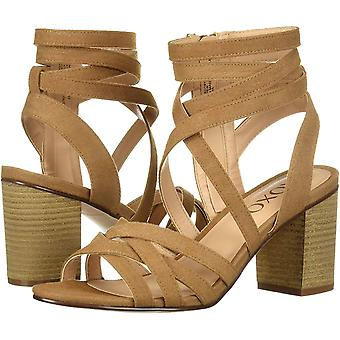 Xoxo Womens Eden Fabric Open Toe Casual Ankle Strap Sandals