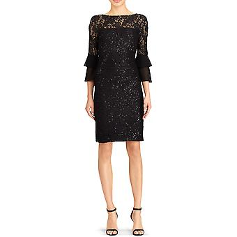 Lauren by Ralph Lauren | Black Sequined Cocktail Dress