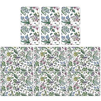 ピムペルネル植物園チンツプレイスマットとコースター