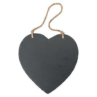 Stort hängande hjärta Skiffer Chalk Board / Svart bräda