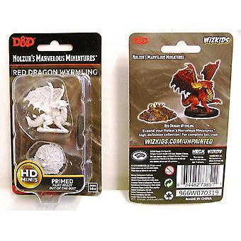 D&D Nolzur's Marvelous Unpainted Miniatures Red Dragon Wyrmling W10 (Pack of 6)