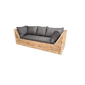 Wood4you - Phoenix Gerüst-Lounge-Bank 210Lx70Hx80D cm thud