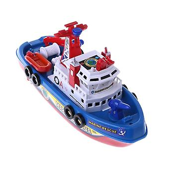 Fast Speed Music Light Electric Marine Rescue, Fire Fighting Boat Toy