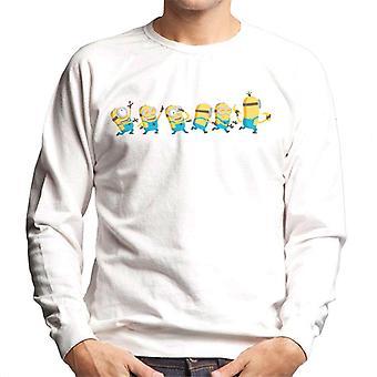 Despicable Me Minions Celebration Line Men's Sweatshirt