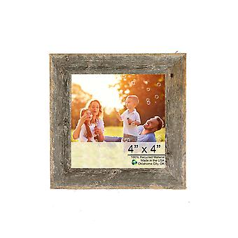 "4"" x 4"" Natural Weathered Gray Picture Frame"
