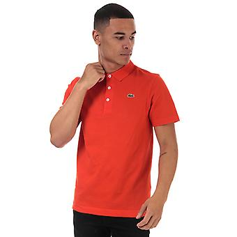 Men's Lacoste Teninis Regular Fit Polo Shirt in Orange