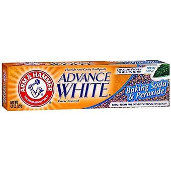 बांह और हथौड़ा अग्रिम सफेद चरम सफेद, ताजा टकसाल, 4.3 ऑउंस
