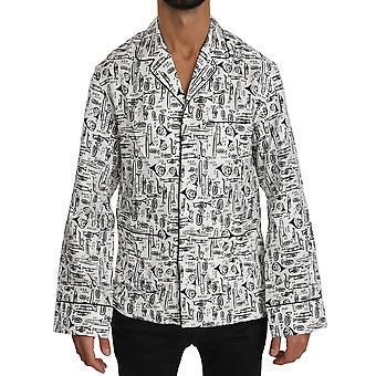 Dolce & Gabbana Valkoinen soitin Silkki Top Shirt