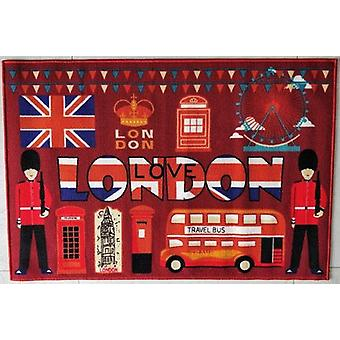 Love London Polyester Area Rug Anti-slip Small Carpet / Runners