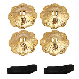 2 Pack 63mm Belly Dance Zills Finger Cymbals Percussion Instrumements
