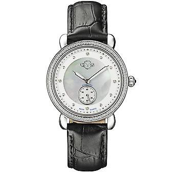 GV2 9834 Marsala sub ochi SS caz cu negru și extra burgundy curea ceas