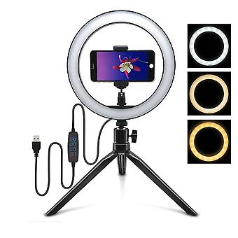 Led Ring Light Selfie With Tripod Ring Holder For Phone Video/photography