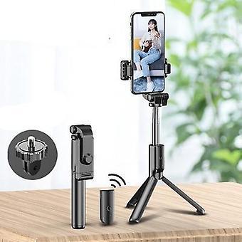 Selfie Stick Tripod، مصباحان مُليئان - بلوتوث والتحكم عن بعد