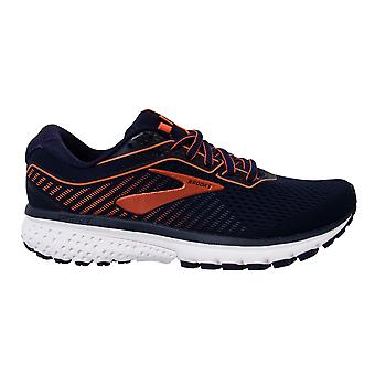 Brooks Ghost 12 Lace Up Blue Coral Womens Running Shoes Trainers 1203051B480
