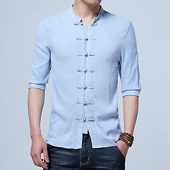 Puolihihaiset puuvillaliinavaatteen kiinalaistyyliset paidat Kung Fu Tai Chi Tang Suit Style