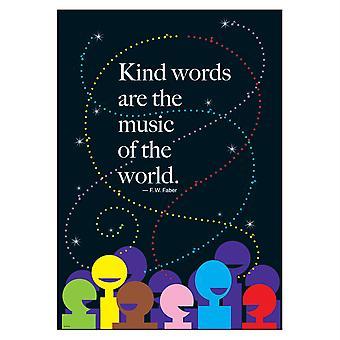 """Freundliche Worte sind die Musik... Argus Poster, 13.375"""" X 19"""""""