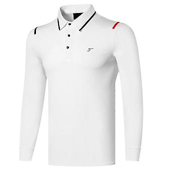 Spring / Autumn Long Sleeve Golf Shirts 3 Colors Men Clothing