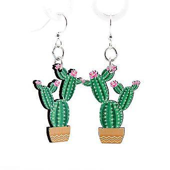 Blühende Kaktus Ohrringe