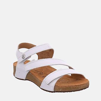 Tonga 25 weiss - josef seibel valkoinen nahkainen toe post naisten sandaali