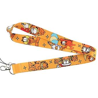 Key Strap For Phone Cat Printed Lanyards Id Badge With Key Ring Holder