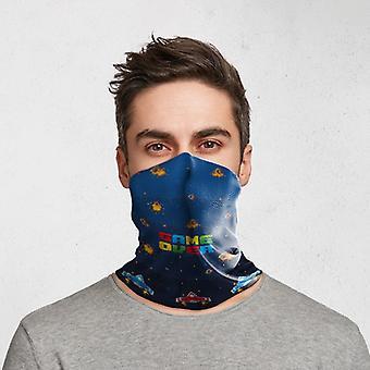 Jeu au-dessus du revêtement de visage d'écharpe de cou