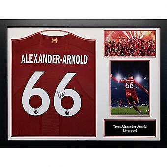 Liverpool Alexander-Arnold Signed Shirt (Framed)