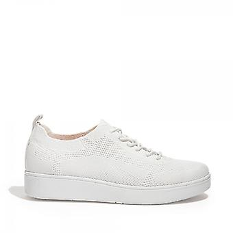 FitFlop Rally Tonal Knit Ladies Trainers Urban White