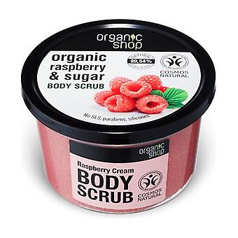 Thick raspberry organic body scrub (bdih) 250 ml