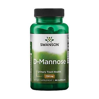 D-Mannose, 700mg 60 capsules