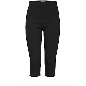 b.young Keira Black Crop Trousers