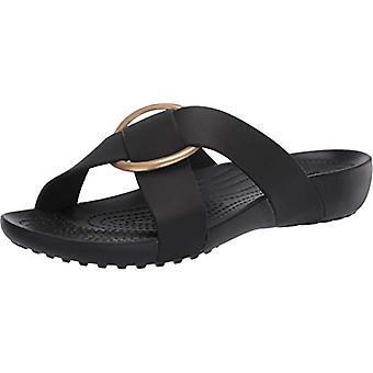 Crocs Women's Serena Cross-Band Slide Comfortable Summer Sandals