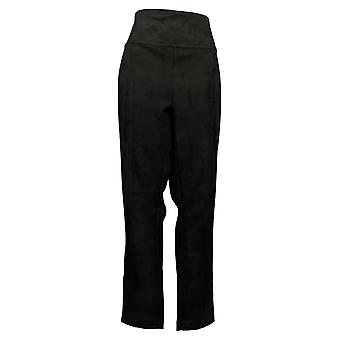 Andrew Marc Women's Pants XXL Ankle Length Faux Suede Black Pull On