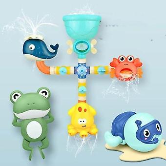 Baby vand spil vandhane bruser gummi andevandmølle dabbling vandspray sæt