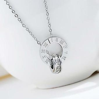 Couple Jewelry Austrian Crystal Love Necklace