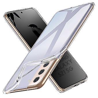 Coque Pour Samsung Galaxy S21 5g, Housse De Protection En Silicone De Haute Qualité, Transparent