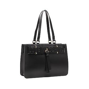 Laukku nainen rakkaus Moschino ostoksilla Ecopelle Musta Bs21mo103 Jc4271