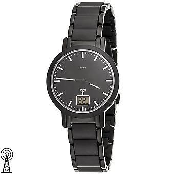 JOBO Women's Wristwatch Radio Radio Watch Stainless Steel Black Date Ladies Watch