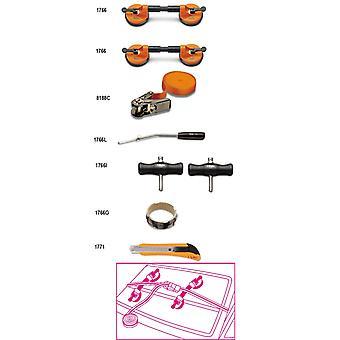 Beta 017660100 1766 /8 Assortment Of 8 Tools For Car Glass Windows