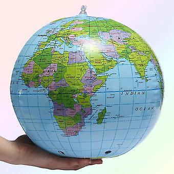 30cm Inflatable Globe World Earth Ocean Map Ball Geography Learning Ball
