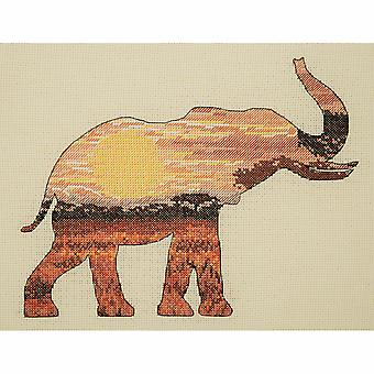 Anchor Counted Cross Stitch Kit: Maia Collection: Elephant Silhouette