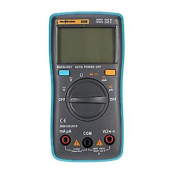 RICHMETERS RM098 Multifunctional LCD Digital Multimeter DMM DC AC Voltage Current Resistance Diode Continuity Tester Measurement Automatic Polarity Identification Ammeter Voltmeter Ohm