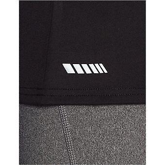 Essentials Damen 2-Pack Tech Stretch Kurzarm V-Ausschnitt T-Shirt, schwarz, klein