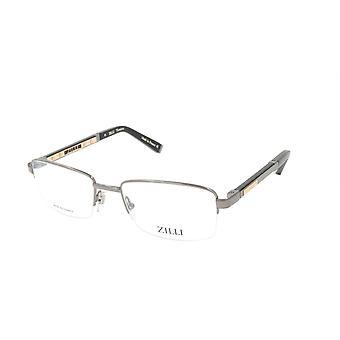 ZILLI glasögon Ram Titanacetat Läder Frankrike Tillverkad ZI 60014 C03